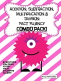Addition, Subtraction, Multiplication & Division Fact Flue