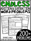 Addition & Subtraction Story Problems {Theme Packs} ENDLES