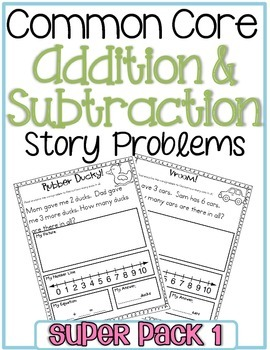 Addition & Subtraction Word Problems {Super Pack}