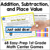 68 Addition, Subtraction, and Place Value Games ~  Partner