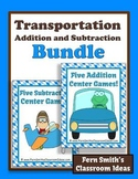 Addition and Subtraction Transportation Center Game for Te