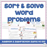 Addition and Subtraction Word Problem Sort Bundle