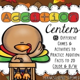Addition:  Thanksgiving Math Centers
