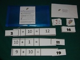Addition with 10 using Manipulatives Math Center- Hard Good