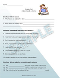 Adjectives & Adverbs Test / Worksheet