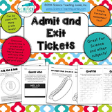 Admit and Exit Tickets