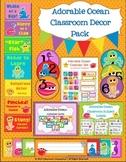 Adorable Ocean Classroom Decor Pack (Clip Chart, Calendar,