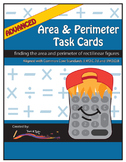 Perimeter and Area Task Cards – Advanced Level: Rectilinea