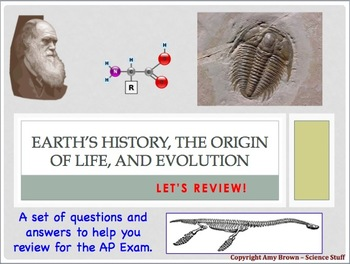 Advanced Placement (AP) Biology Review: Evolution, Earth's