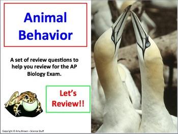 Advanced Placement (AP) Biology Review PPT Animal Behavior