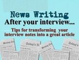 """After the Interview: News Writing """"How To"""" Keynote Presentation"""