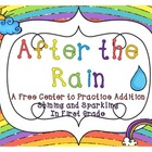 After the Rain {Addition Center Freebie}