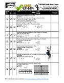 Algebra 1 Review Checklist Part 2: NonLinear