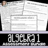 Algebra Assessments Bundle