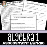 Algebra Assessments Bundle
