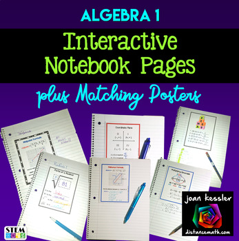 Algebra Bundle of 12 Posters and Graphic Organizers