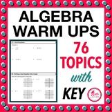 Summer Algebra Review