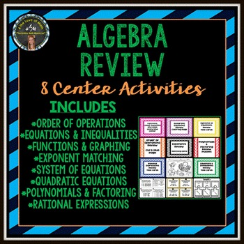 Algebra End of the Year Review Stations