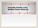 Algebra: Inequalities Number Lines Multple Choice Warm-up