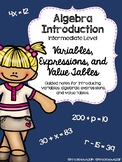 Algebra Introduction: Variables, Algebraic Expressions and