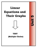 Algebra Multiple Choice Test - Unit 5: Linear Equations an