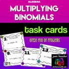 Algebra   Multiplying Binomials *Task Cards*