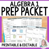 Algebra Prep Summer Packet