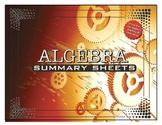 Algebra Summary Sheets / Posters