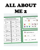 All About Me 2: Interactive Worksheets to Work on Personal