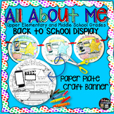 All About Me, Back to School Display: Craftivity Banner {U