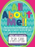 All About Me: Get to Know Your Students and Build Your Cla