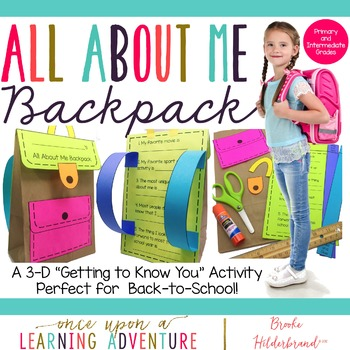 "All About Me Paper ""Bagpack!"" {A Back to School Craftivity}"