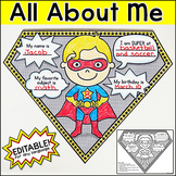 All About Me Superhero Pennants