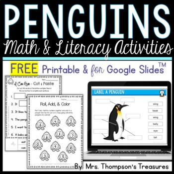All About Penguins - Print & Go Pack - FREE SAMPLE