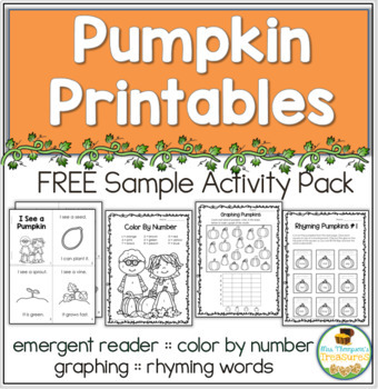 All About Pumpkins - Print & Go Pack - FREE SAMPLE