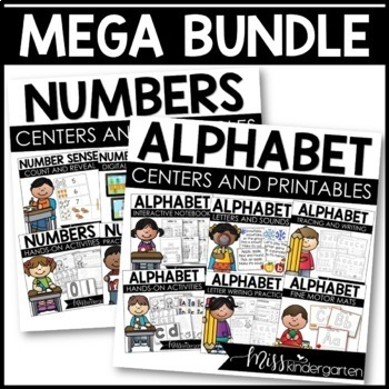All About the ABCs and Numbers Interactive Printables {Mega Bundle}