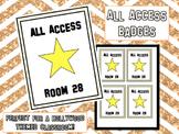 All Access Badges - Hollywood Theme
