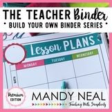All-In-One Teacher Planner (Chalkboard w/ a Splash of Color)