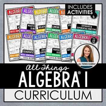 All Things Algebra - My Entire Algebra I Curriculum!