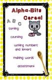 Alpha-Bits Cereal activities