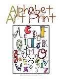 Alphabet Art Poster