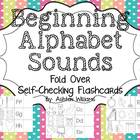 Alphabet Begining Sound Fold It Self-Checking Flashcards