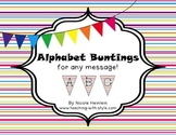 Alphabet Bunting - Striped Rainbow
