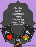 Alphabet Cards Chalkboard Theme