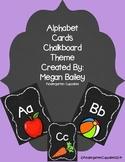 Alphabet Cards Chalkboard Theme