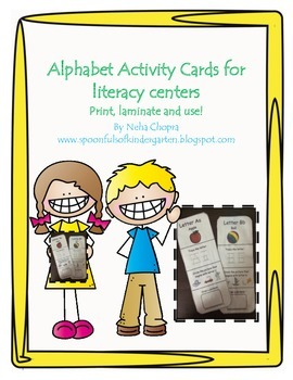 Alphabet Cards For Literacy Centers