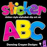 Alphabet Letters Clipart: Sticker Style Alphabet