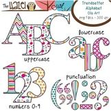 Alphabet Clip Art in Trendsetter Prints - Uppercase, Lower