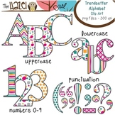 Alphabet Clip Art in Trendsetter Prints - Uppercase, Lower