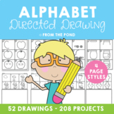 Alphabet Directed Drawing - Printable Worksheets for Phoni